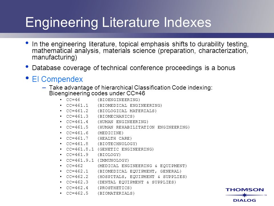 Engineering Literature Indexes