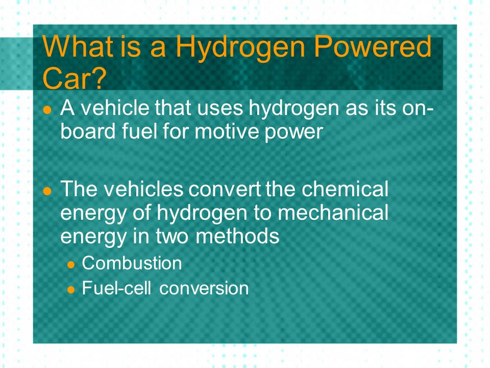 What is a Hydrogen Powered Car