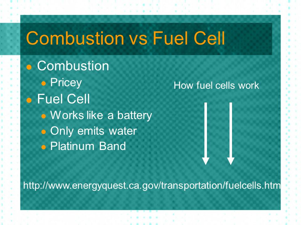 Combustion vs Fuel Cell