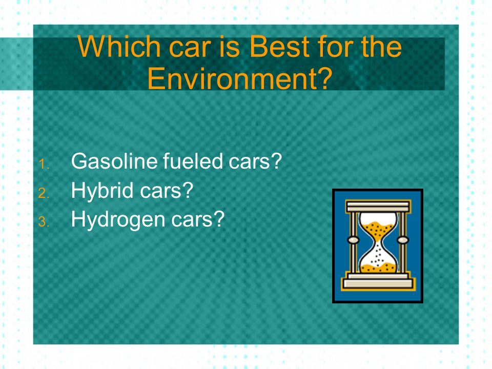 Which car is Best for the Environment