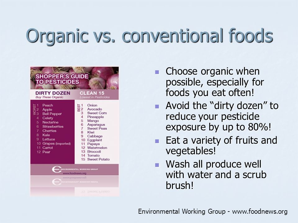 organic vs conventional foods essay Essay 3 outline thesis: organic organic foods may not be more nutritious to their the pesticides levels on both organic and conventional foods do not exceed.