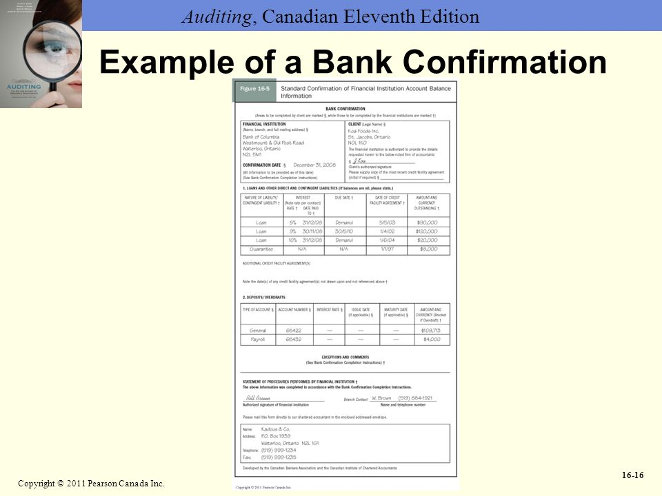 Bank Confirmation Form Canadian Bankers Association Bank
