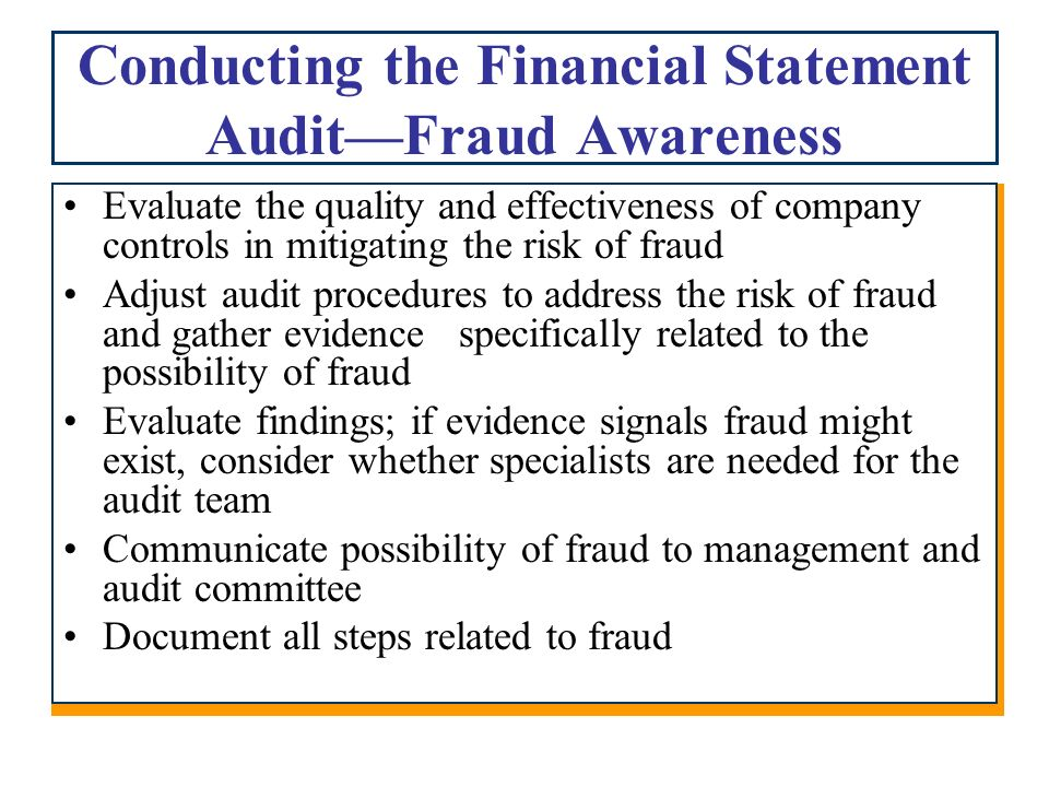 the auditor's responsibility to consider fraud The new standard aims to have the auditor's consideration of fraud  auditors' responsibility for fraud  of fraud, you should consider the.