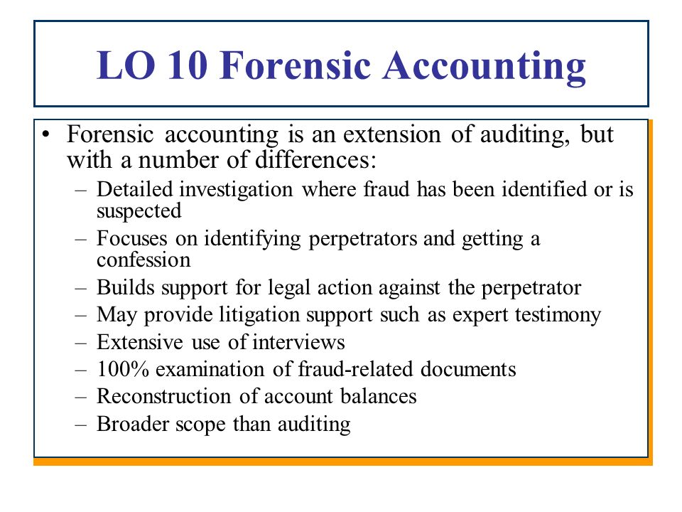 Chapter 9 auditing for fraud ppt video online download for Forensic audit of mortgage loan documents