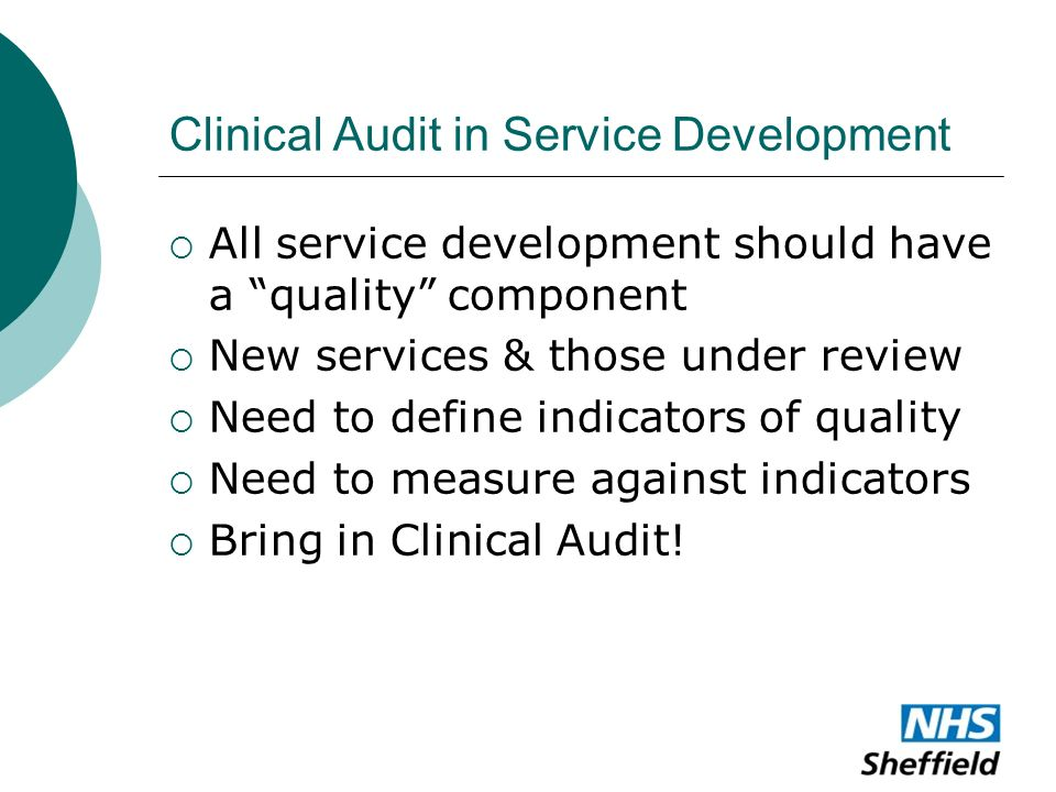 service quality audit Audit and service improvement explore baseline assessment tools audit tools  audit tools a library of clinical audit tools which can be used to improve care they contain clinical audit standards based on nice guidance published before june 2015  quality standard service improvement template.