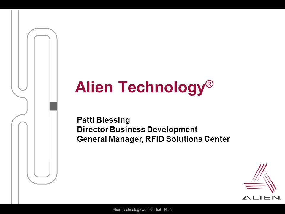 Alien Technology® Patti Blessing Director Business Development