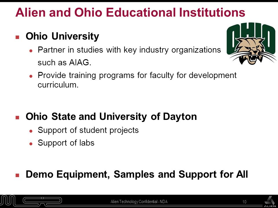 Alien and Ohio Educational Institutions