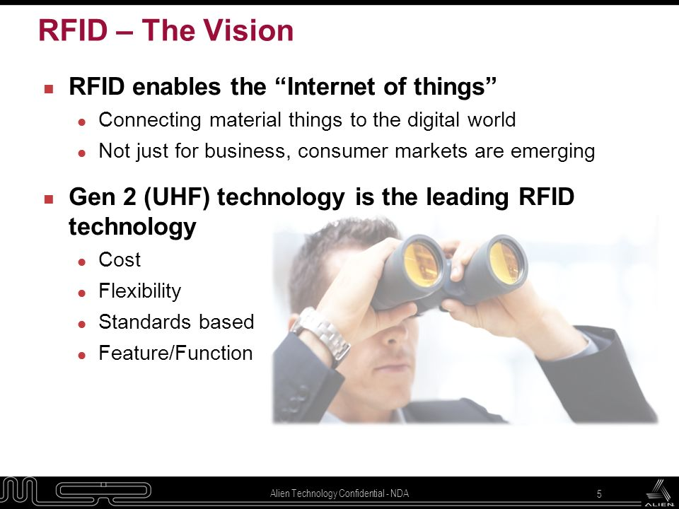 RFID – The Vision RFID enables the Internet of things