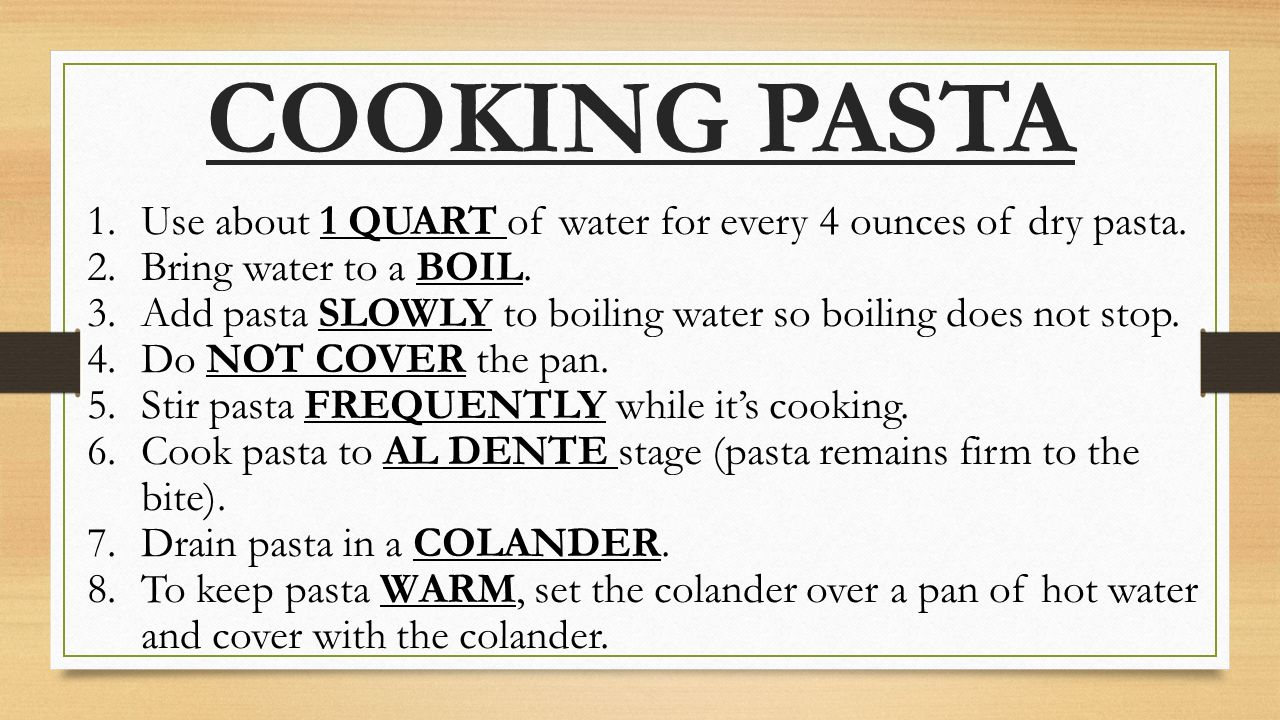 how to cook 1 cup pasta