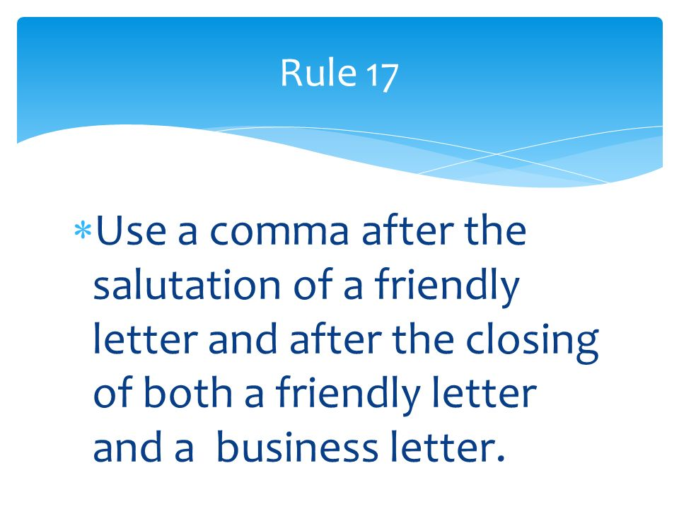 Closing A Friendly Business Letter