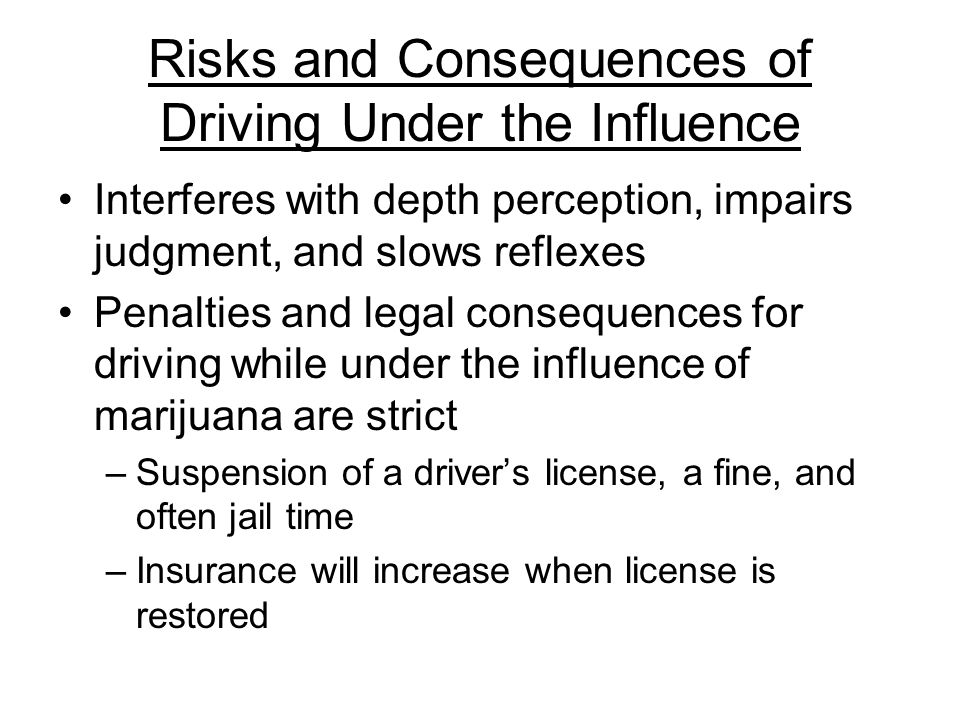 an overview of the dangers of driving under influence Activity #1: fact or fiction - the truth about impaired driving  review the  impaired driving section of the centre for youth crime prevention.