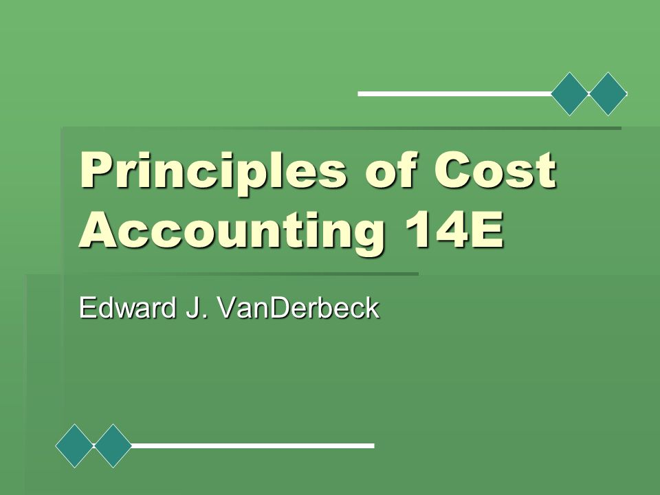 cost principles of accounting In management accounting, internal measures and reports are based on cost-benefit analysis, and are not required to follow the generally accepted accounting principle (gaap) in 2014 cima created the global management accounting principles (gmaps.