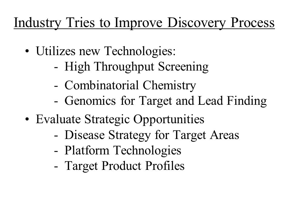 Industry Tries to Improve Discovery Process