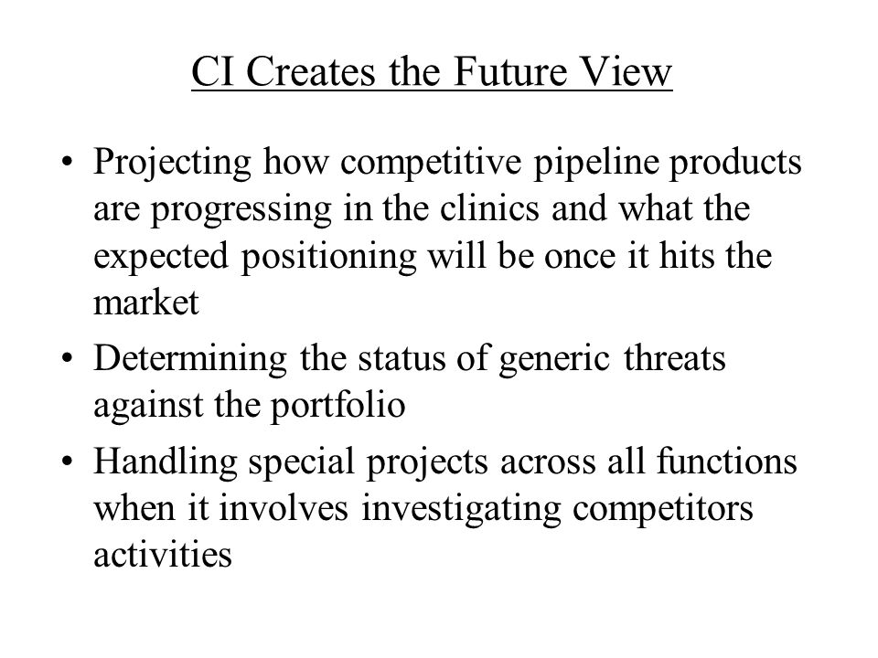 CI Creates the Future View