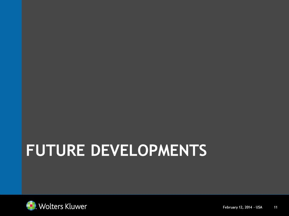 Future Developments March 27, USA