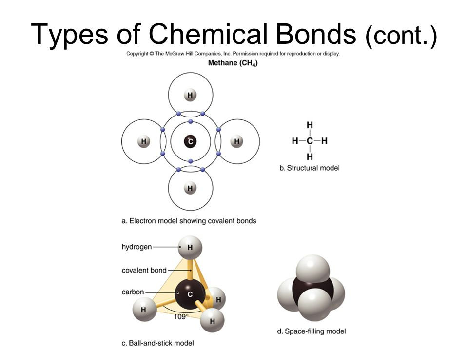 Types of Chemical Bonds (cont.)