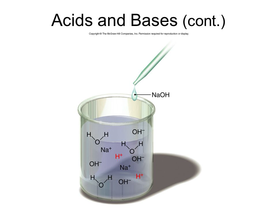 Acids and Bases (cont.)