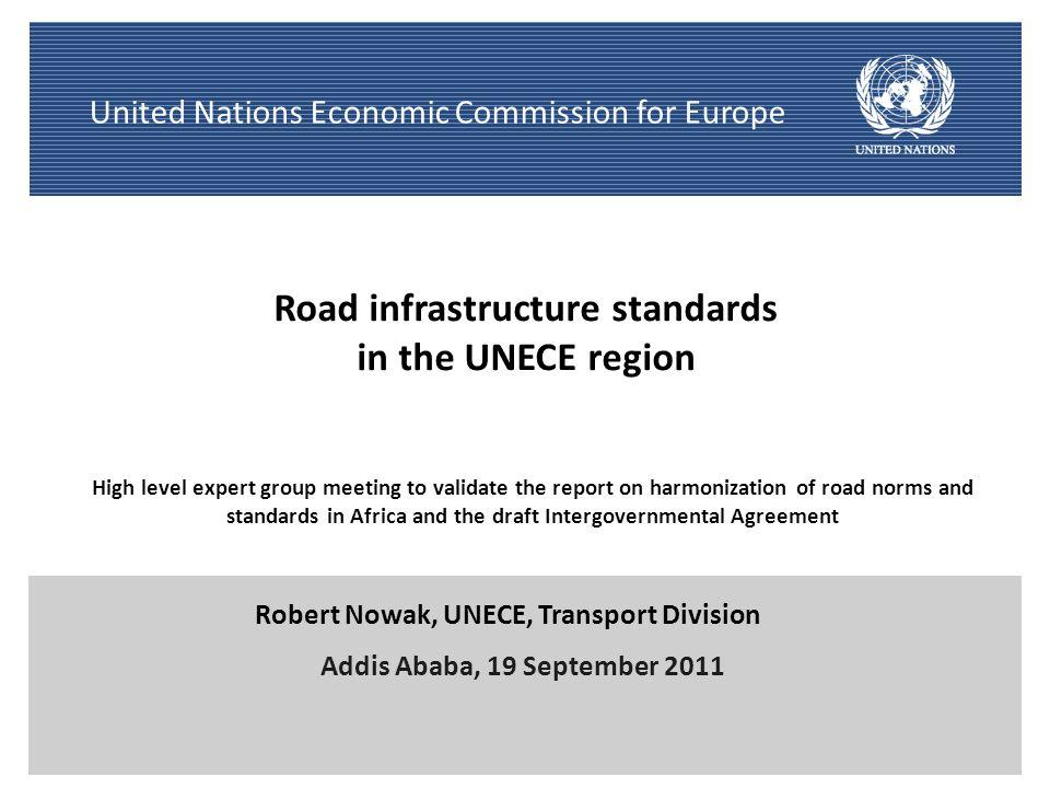 Road infrastructure standards
