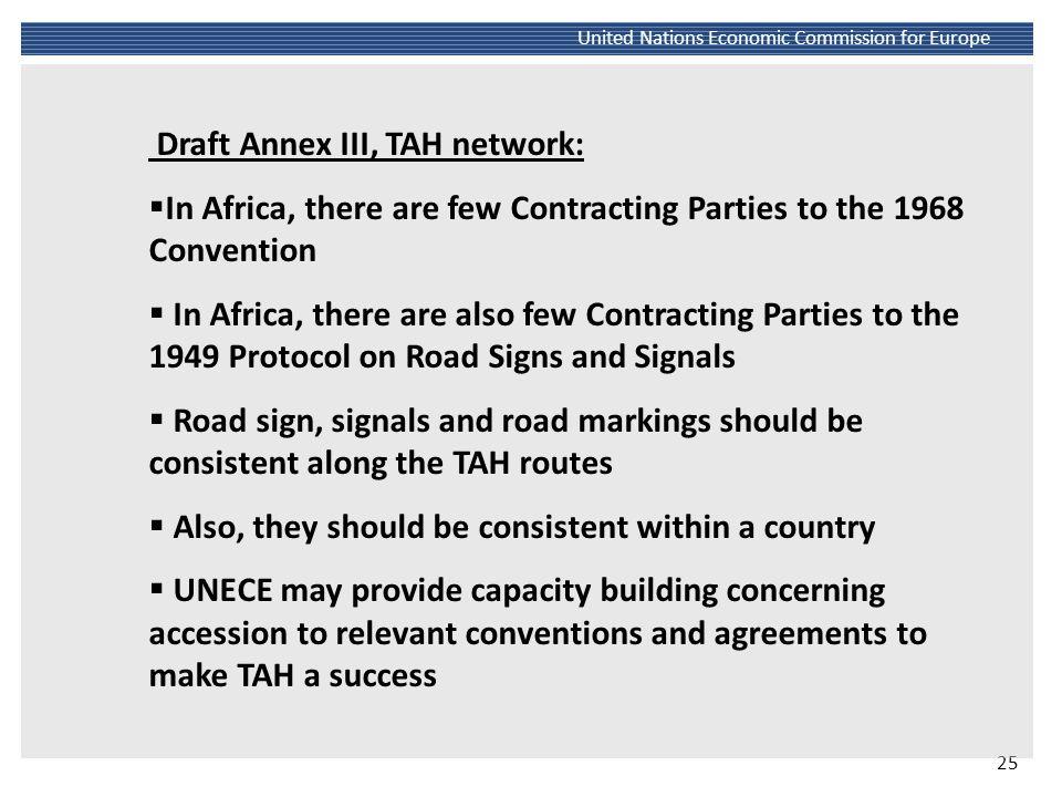 Draft Annex III, TAH network: