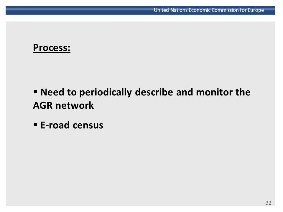 Need to periodically describe and monitor the AGR network