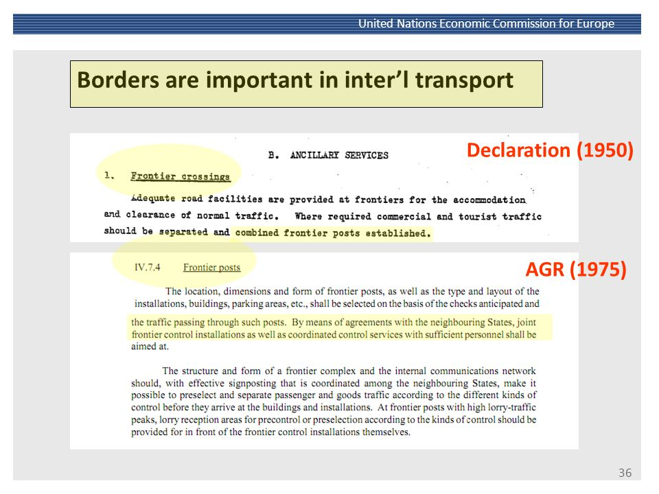 Borders are important in inter'l transport