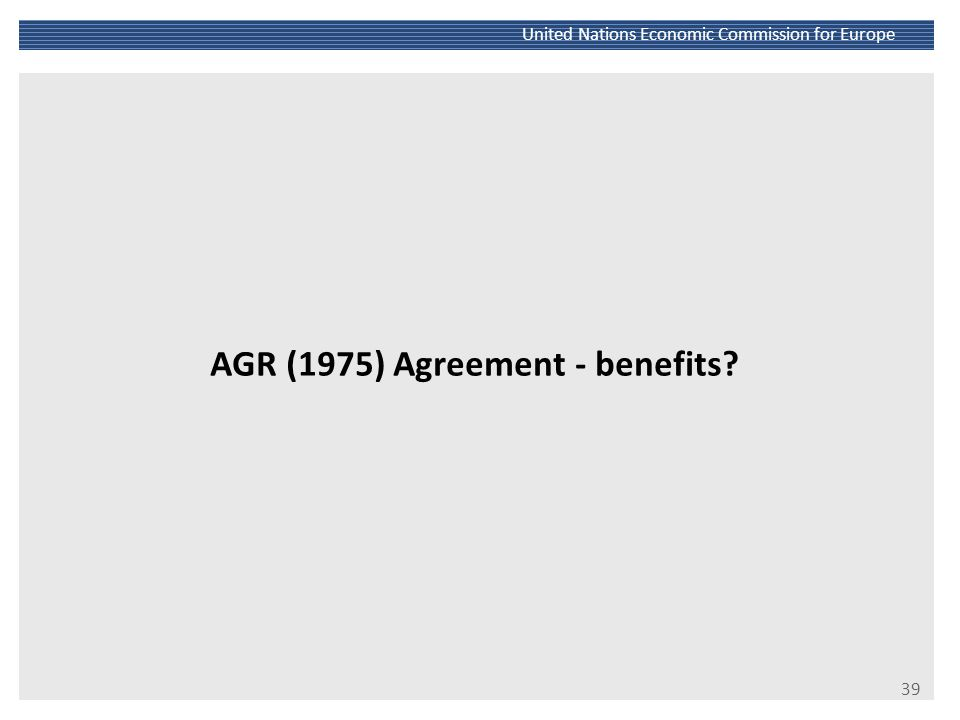 AGR (1975) Agreement - benefits