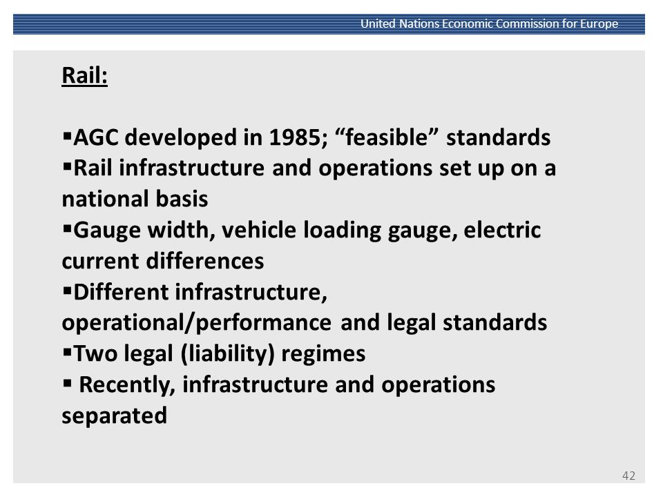 AGC developed in 1985; feasible standards