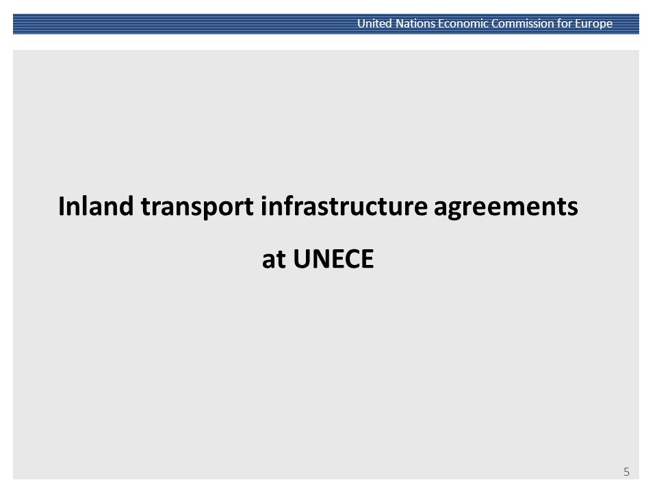 Inland transport infrastructure agreements