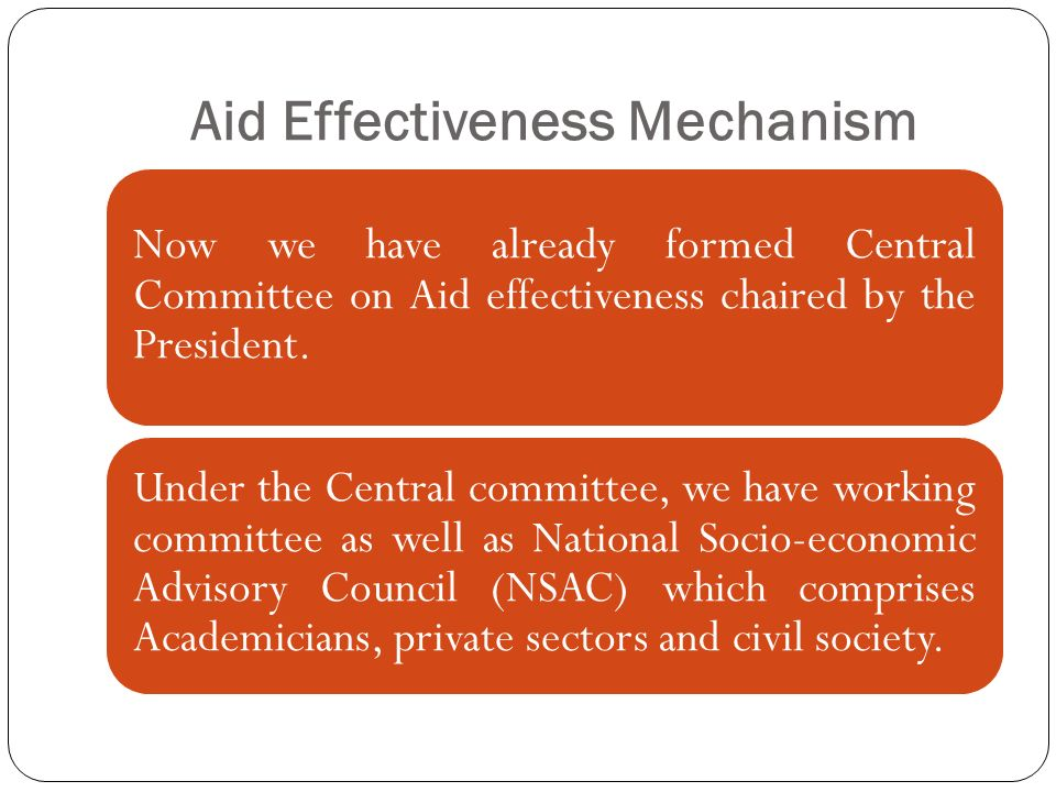 Aid Effectiveness Mechanism