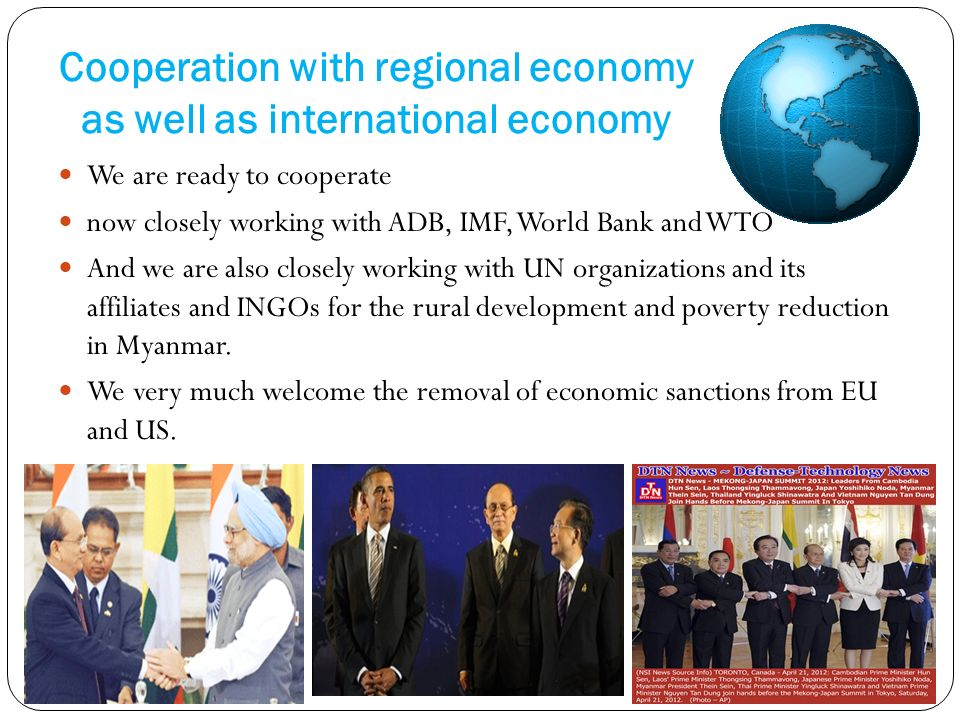 Cooperation with regional economy as well as international economy