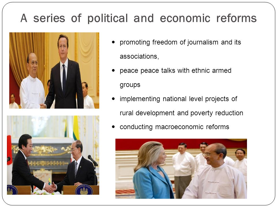A series of political and economic reforms