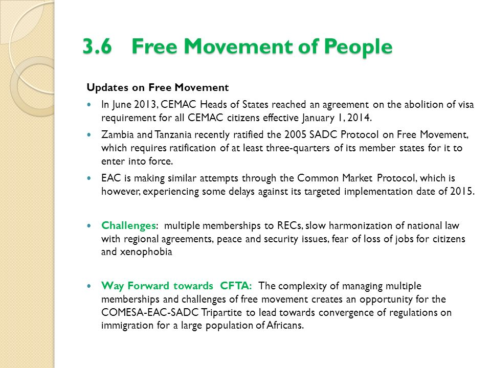 3.6 Free Movement of People