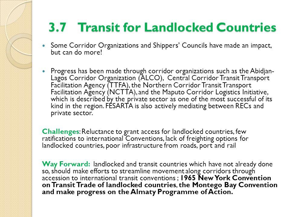 3.7 Transit for Landlocked Countries