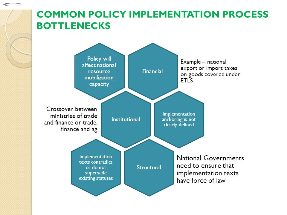COMMON POLICY IMPLEMENTATION PROCESS BOTTLENECKS
