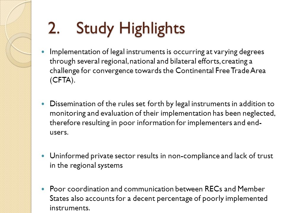 2. Study Highlights