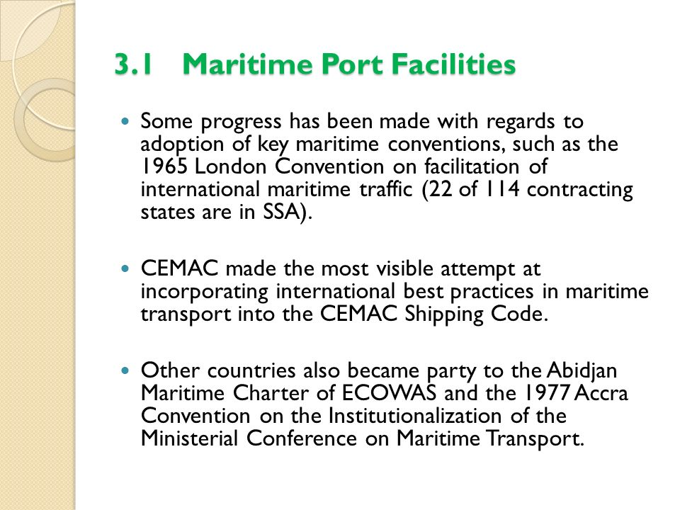 3.1 Maritime Port Facilities