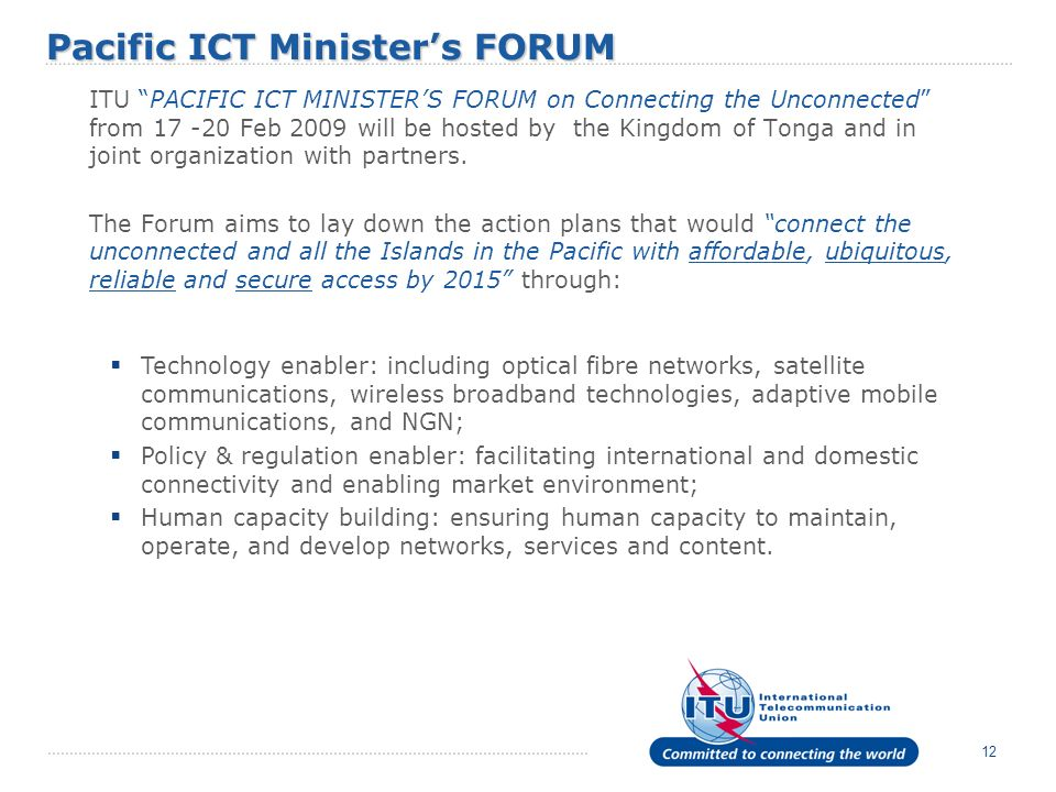 Pacific ICT Minister's FORUM