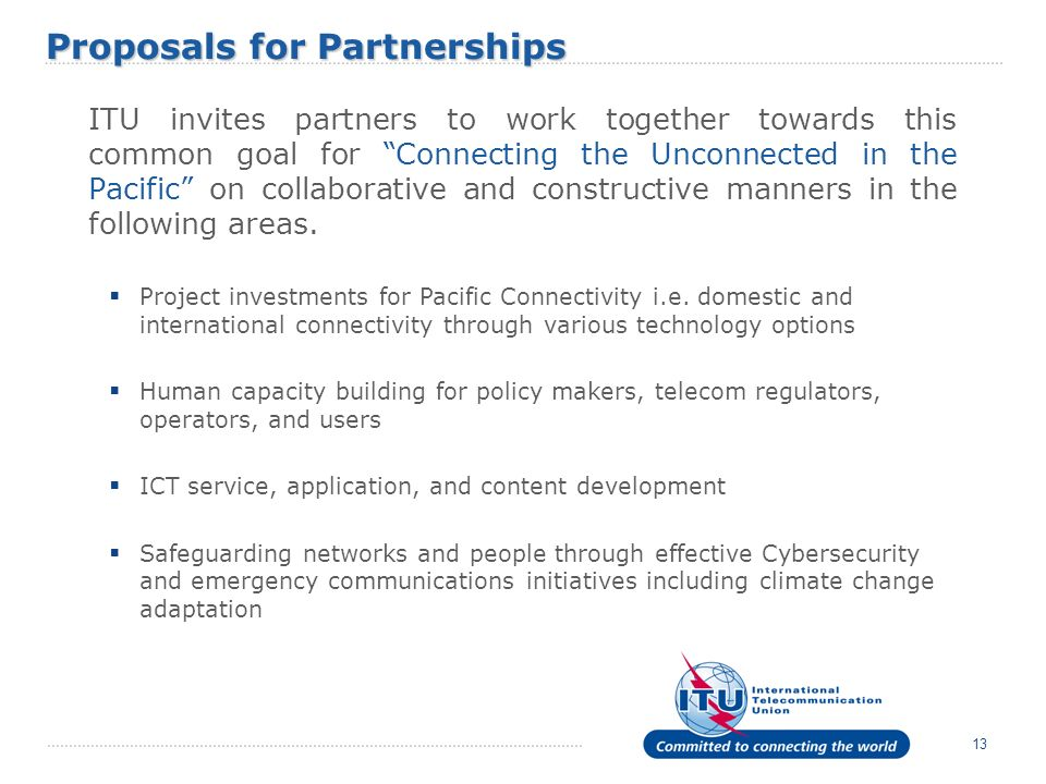 Proposals for Partnerships