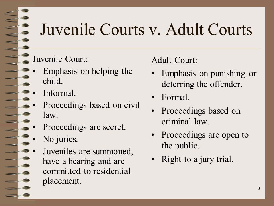 juvenile and adult courts a comparative Juvenile and adult courts: a comparative analysis paper or juvenile and adult courts: a comparative analysis paper cjs 245 week 3 juvenile and adult courts: a comparative analysis paper juvenile andread more.