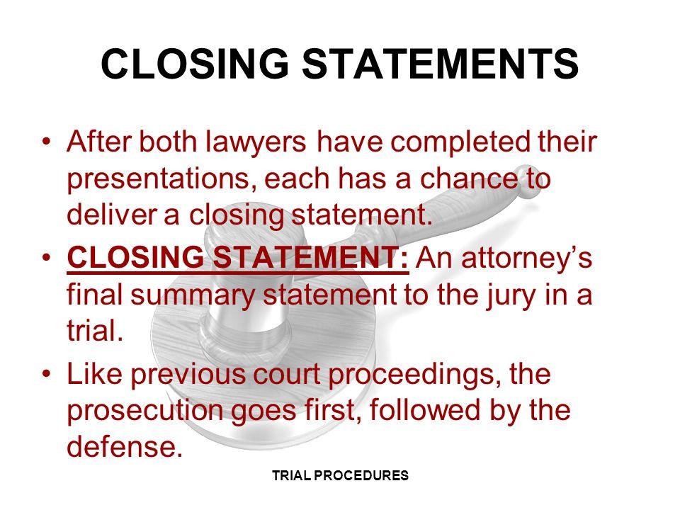 law i criminal law trial procedures trial procedures