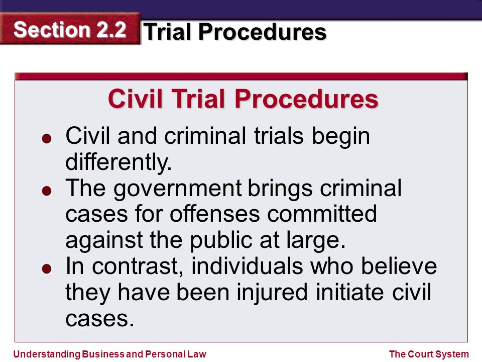 Civil Trial Procedures
