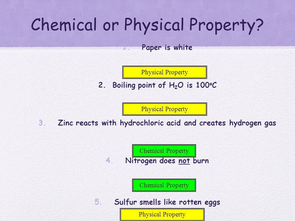 Is A Boiling Point A Chemical Property Of A Substance
