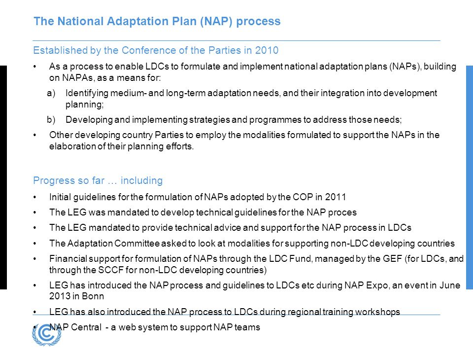 The National Adaptation Plan (NAP) process