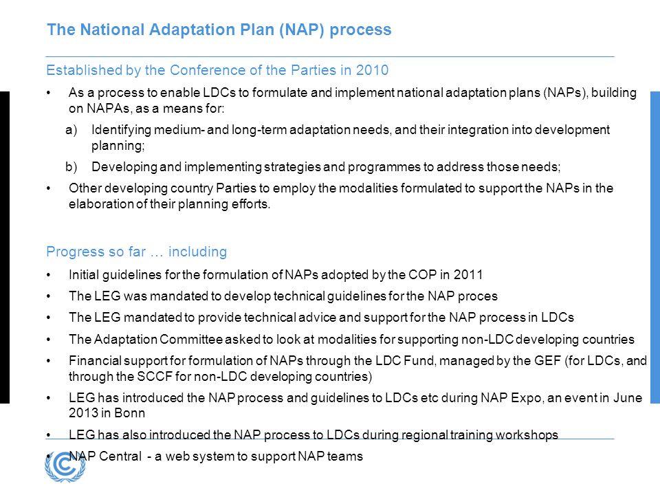 The National Adaptation Plan (NAP) process