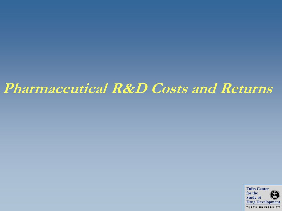 Pharmaceutical R&D Costs and Returns