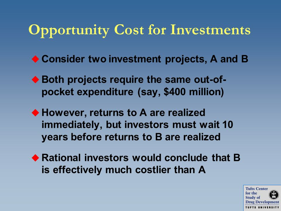Opportunity Cost for Investments