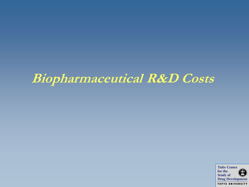 Biopharmaceutical R&D Costs