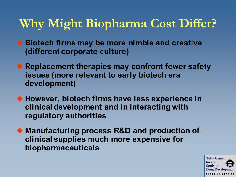 Why Might Biopharma Cost Differ