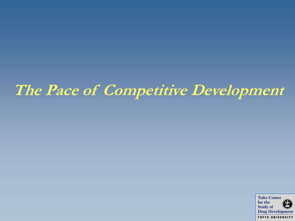 The Pace of Competitive Development