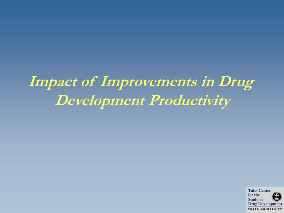 Impact of Improvements in Drug Development Productivity